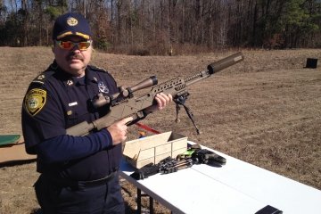 Chief Tackett with M-308 Auto
